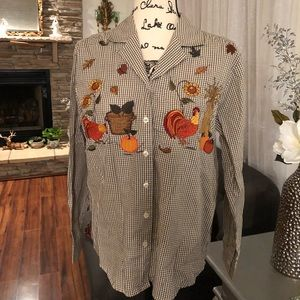 Karen scott button dawn shirt